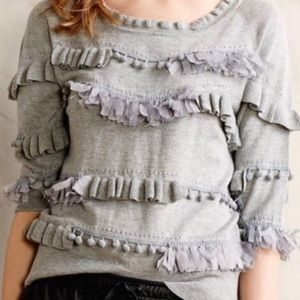 Anthropologie Knitted and Knotted Grey Sweater